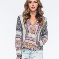 Billabong Baja Crop Womens Poncho Sweater Off Black  In Sizes
