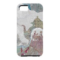 Belle13 4 O Clock Tea London Map Cell Phone Case