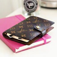 LV Fashion New Couple Personality Portable Hand Book Notebook