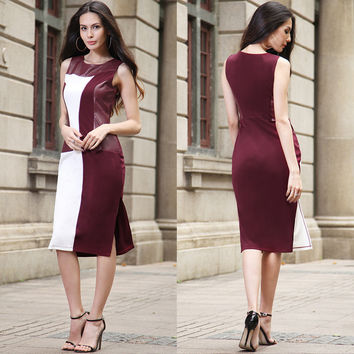 Sleeveless Pen Dress Slim Fashion One Piece Dress [10016915085]