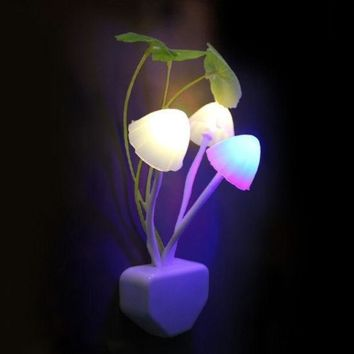 Mushroom Light Sense Control Led Night Wall lamp