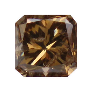 0.63 Ct Natural Radiant Cut Fancy Color Brown Diamond