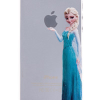 Elsa Transparent Back Cover Case for iPhone 5 & 5S