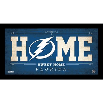 Tampa Bay Lightning 10x20 Home Sweet Home Sign