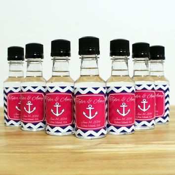 Custom Mini Bottle Liquor Labels And Empty 50 ML Bottles Alcohol Wedding Favors Thank You Rehearsal