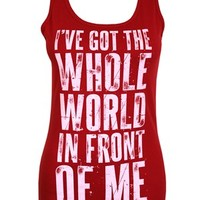 Sleeping With Sirens World Ladies Red Vest - Buy Online at Grindstore.com