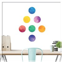 Watercolor Polka dot wall decal - Watercolor Rainbow Polka dots - Polka dot decals - Rainbow color Dot, Nursery decor