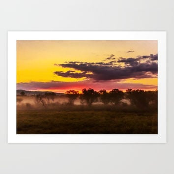 Sunrise above Land of the Leopard Art Print by Svetlana Korneliuk