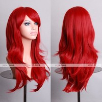 "Outop 28"" High Quality Women's Hair Wig New Fashion Woman's Long Big Wavy Hair Heat Resistant Wig for Cosplay Party Costume ( Red)"