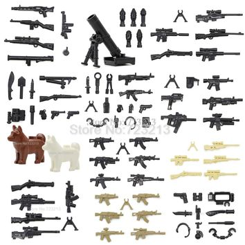 New Arrival Weapon Pack Box Military Figure Set Dog Parts Gun MOC Accessories SWAT Model Building Blocks Brick Kits Toys