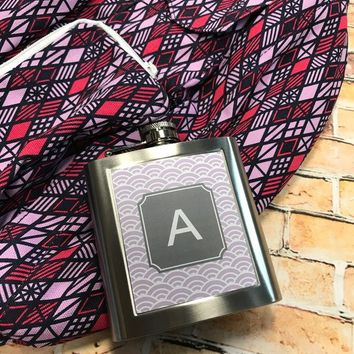 Monogram Flask - Personalized Flask | Bachelorette Party | Custom Flask | Bridesmaid Gift | Stainless Steel Flask | 21st Birthday Gift