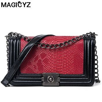 2017 Fashion Serpentine Woman Shoulder Bags Luxury leather Handbags Famous Brand Women Bags Designer Mujer Bolsas Messenger Bags