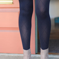 Diamond Daze Tights {Navy}