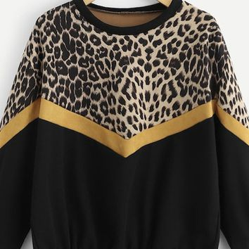 Leaping Leopard Pullover