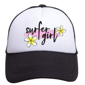 Surfer Girl Trucker Hat (Toddler) by Tiny Trucker Co.