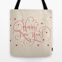 Happy New Year Tote Bag by Irmak Berktas