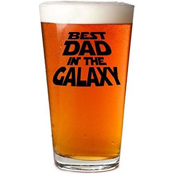 Daft amp Co Best DAD In The Galaxy Premium Beer Pint Glass amp Gift Box Black