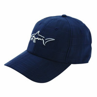 Greg Norman Men's Shark Embossed Stretch Cap, Navy, One Size Fits All