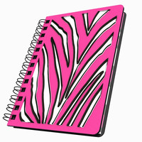 Pink Zebra Stripes Small Acrylic Journal