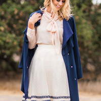 Melody Cream Bow Blouse