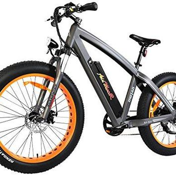 Addmotor MOTAN Electric Bicycles Mountain Fat Tire 26 Inch Power Electric Bikes Removable 48V 10.4AH Lithium Battery M-560 Ebikes For Adults(Orange)