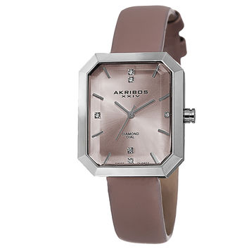 Akribos XXIV Pink Dial Silver-tone Alloy Ladies Watch AK749PK