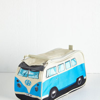 60s Groovy Getaway Toiletry Bag in Blue by ModCloth