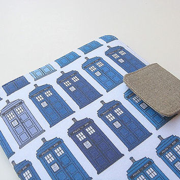 Doctor Who Kindle Cover Nook Simple Touch Cover iPad Mini Cover Kobo Cover Case Tardis Dr Who Police Call Blue Box Timey Wimey eReader