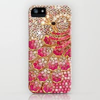 Pink Diamond Peacock  iPhone Case by Girly | Society6