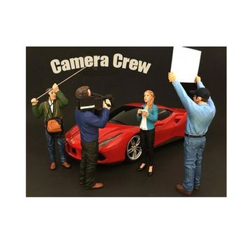 Camera Crew 4 Piece Figure Set For 1:18 Scale Models by American Diorama