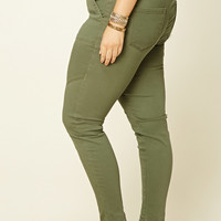 Plus Size Patch Pocket Pants