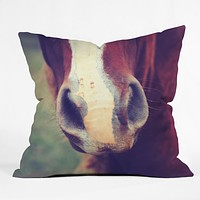 Allyson Johnson Horse Sense 1 Throw Pillow