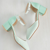 Swing Before Breakfast Heel in Mint