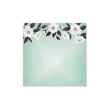 ONE CANOE TWO MINT FLORAL NOTEPAD