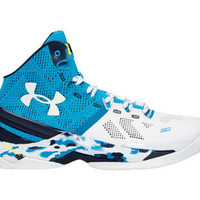 Men's Under Armour Stephen Curry 2 Haight Street Blue White Basketball Shoes