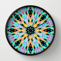 Kissed By Tie-Dye Wall Clock by Bunhugger Design