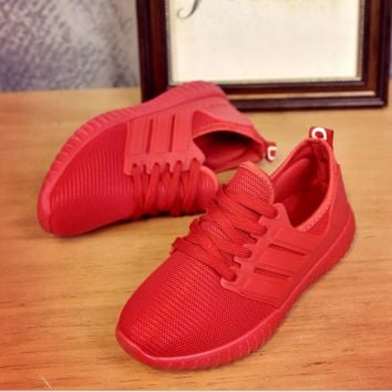 Red Womens Sports Shoes running outdoor Sneakers