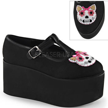 Demonia Sugar Skull Kitty Platforms