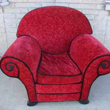 Blues Clues Upholstered Red Thinking Chair full Child Size Furniture Childs Room