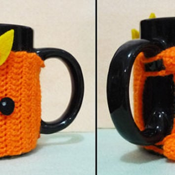 Crochet Mug Cozy Cup Cozy - Torchic  from Pokemon