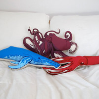 Plush Sea Creature Set of Pillows