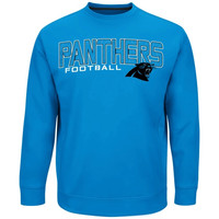 Carolina Panthers Majestic Zone Read Synthetic Long Sleeve Sweatshirt – Panther Blue
