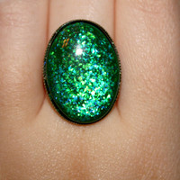 Oval Tale of a Mermaid Nail Polish Ring