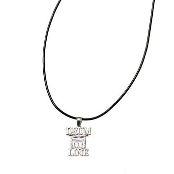 Drum Line Necklace | Sterling Silver