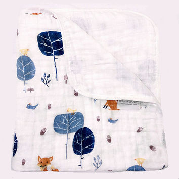 Aden Anais baby blanket Muslin Cotton Two Layers Thicken Newborn Baby Swaddle Winter Baby Swaddling Sleeping blankets bedding