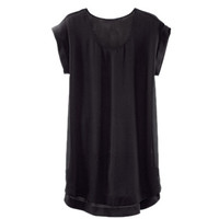 Black Sleeveless Chiffon Blouse