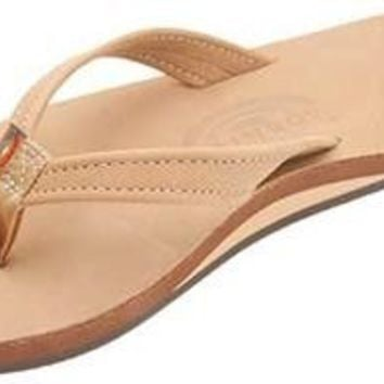 The Catalina Tapered Strap Premier Leather Sandal in Sierra Brown by Rainbow Sandals