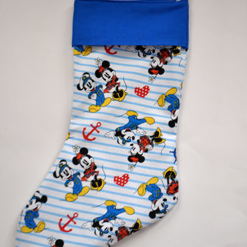 Mickey Mouse stocking, Disney Cruise Stocking, Fish Extenders, Minnie Mouse Stocking, Mickey and Minnie Stocking, Sailor Mickey Mouse