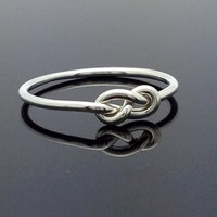 16g Infinity ring. Sterling Silver knot ring. Infinity knot ring. Best friend jewelry