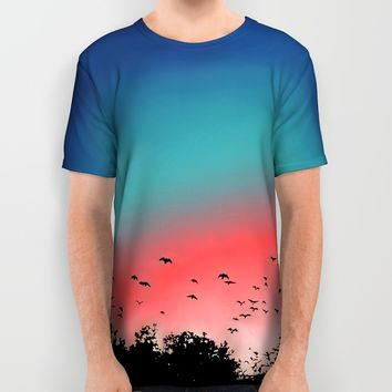 Birds Flying High All Over Print Shirt by Ben Geiger